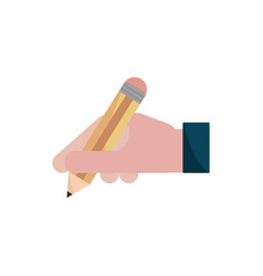 Hand writing with pencil property intellectual vector