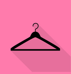 hanger sign black icon with flat vector image