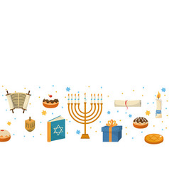 Hanukkah party cartoon vector
