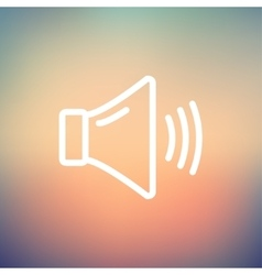 High speaker volume thin line icon vector image