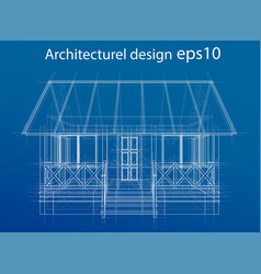 House wireframe structure vector