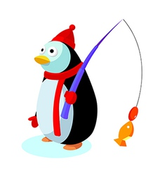 Icon penguin vector