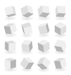 isolated 3d modeling square blocks isometric vector image