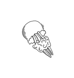 Jellyfish sketch drawing icon summer themed vector