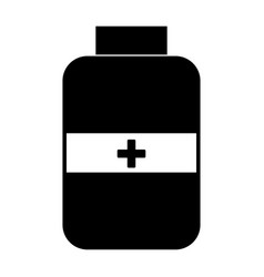 Medicine bottle the black color icon vector