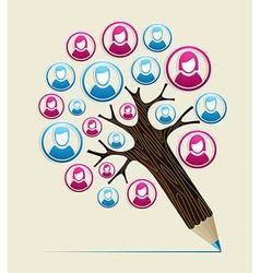 Member user concept pencil tree vector image