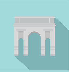 milan arch icon flat style vector image