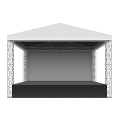 Outdoor concert stage vector