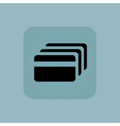 Pale blue credit card icon vector