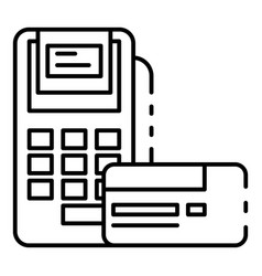 payment terminal icon outline style vector image