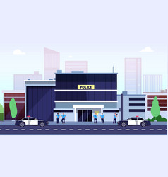 police station city department building vector image