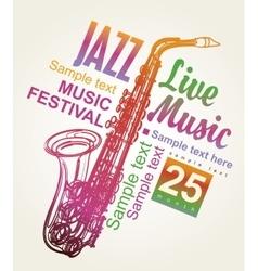 Poster for jazz festival vector