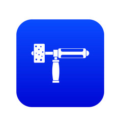 precision grinding machine icon digital blue vector image