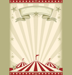 Rainbow red circus vintage vector