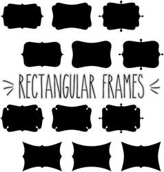 Rectangular frame silhouette vector