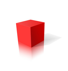 Red cube 3d vector