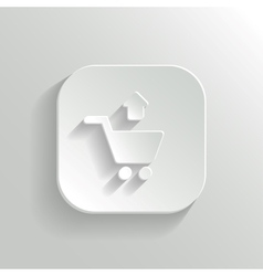 Remove from shopping cart icon - white app button vector