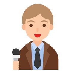 Reporter icon profession and job vector