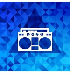 Retro tape recorderTriangle background vector