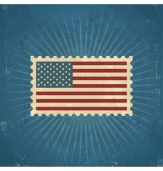 Retro United States Postage Stamp vector image