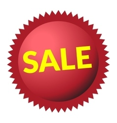 sale sign red vector image