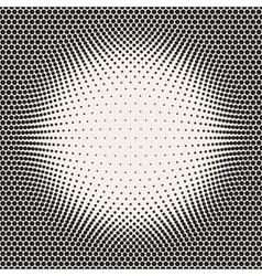 Seamless Halftone Circles Bloat Pattern vector image