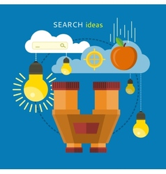 Search Idea Concept vector image