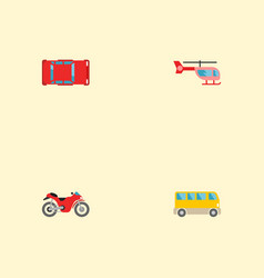 set of auto icons flat style symbols with vector image
