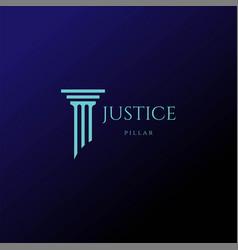 Simple minimalist pillar attorney law firm logo de vector