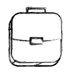 Square sketch button with briefcase vector
