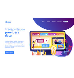 Supply chain analytics concept landing page vector