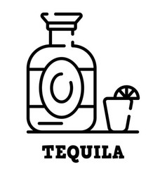 Tequila bottle icon outline style vector