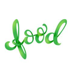 vegan related lettering vector image