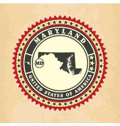 Vintage label-sticker cards of Maryland vector