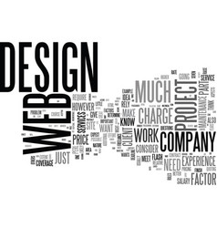 web design work and how to price the services vector image