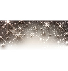 Winter festive luminous banner vector