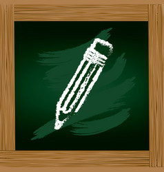 Wooden frame with board with pencil drawing vector