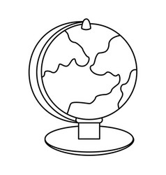 World map icon image vector