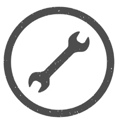 Wrench Icon Rubber Stamp vector