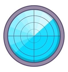 Radar icon cartoon style vector
