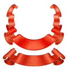 Ribbons set vector image vector image