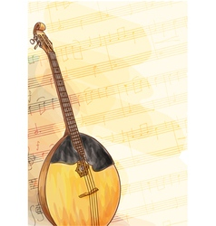 Slavic traditional musical instrument - Domra vector image vector image