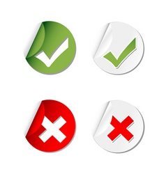 yes and no tags vector image