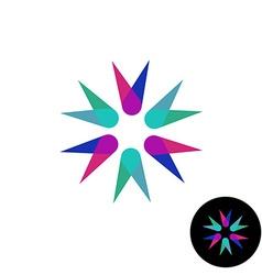 Abstract corner flower overlay style logo vector image