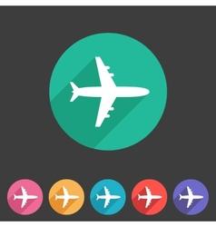 Airplane plane flat icon vector image