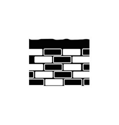 bricks wall icon vector image vector image
