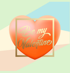 delicate valentines day greetings with pink vector image vector image