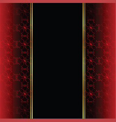elegant wallpaper with golden fine decoration and vector image vector image