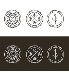 set of nature and travelling logo in eps vector image vector image