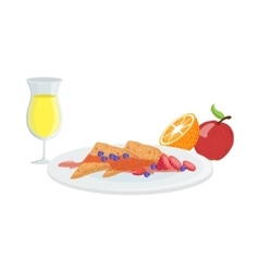 Sweet Crepes Fruit And Juice Breakfast Food vector image vector image